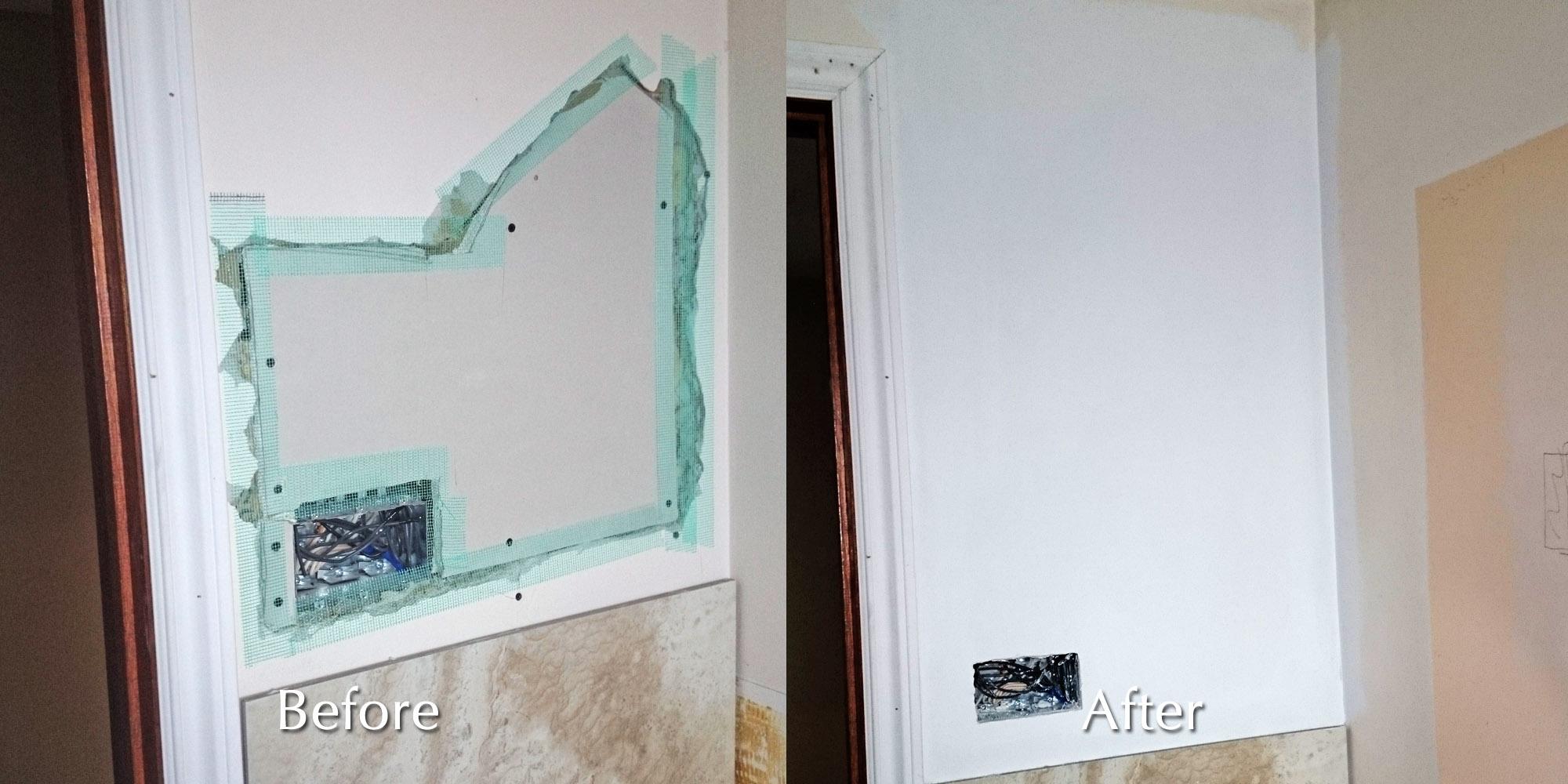 Before Amp After Photos Moncast Custom Painting And Drywall