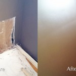 Wall Patch Finishing and Painting - Before and After