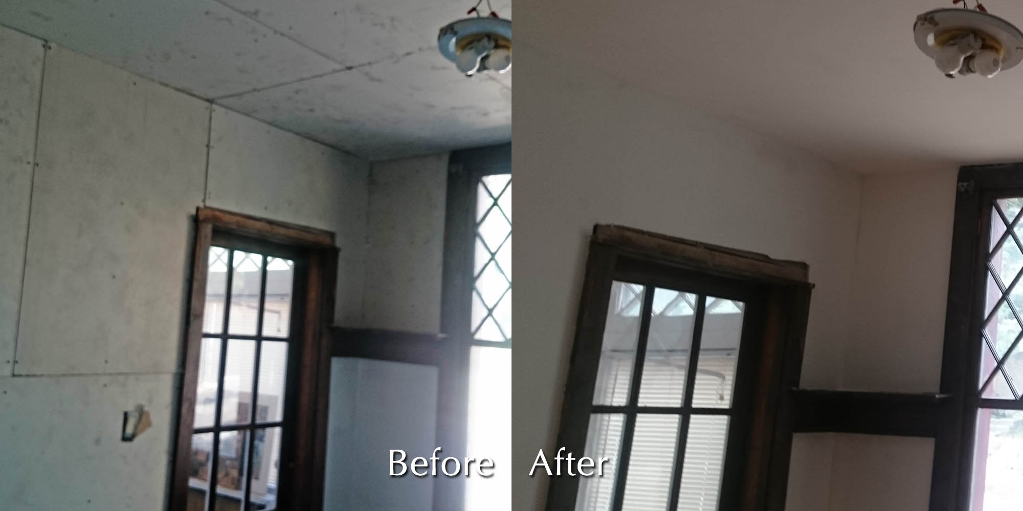 Before after photos moncast custom painting and drywall for House finishing